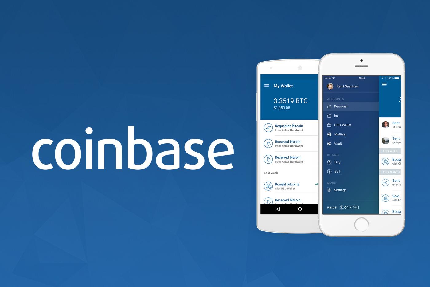 Пользователи приложения Coinbase теперь могут отправлять криптовалюту на адреса кошелька ETH